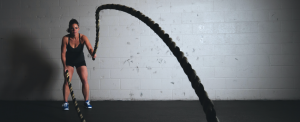 Girl completing a intensity workout
