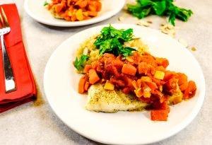 Cod in Moroccan Tomato Sauce