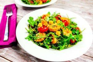 Spicy Grilled Shrimp & Quinoa Salad