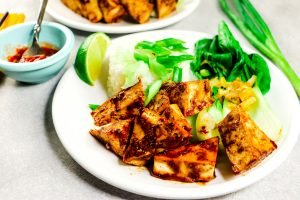 Garlic Bok Choy with Tofu