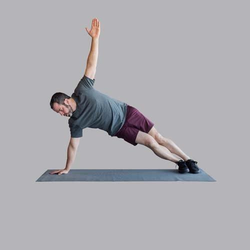 Side Plank Arm Tucks