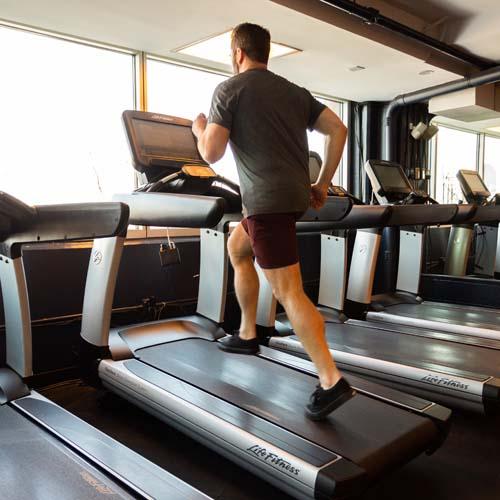High Incline Treadmill Run