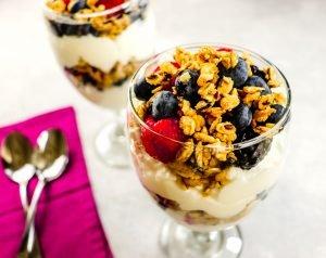 Triple Berry Yogurt Parfait